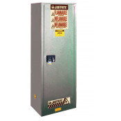 Sure-Grip  EX Slimline Flammable Safety Cabinet, Cap. 22 gallons, 3 shelves, 1 m/c door, Gray.