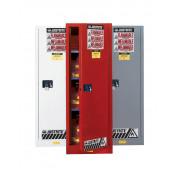 Sure-Grip  EX Slimline Flammable Safety Cabinet, Cap. 22 gallons, 3 shelves, 1 m/c door, White.