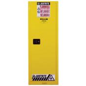 Sure-Grip  EX Slimline Flammable Safety Cabinet, Cap. 22 gallons, 3 shelves, 1 s/c door, Yellow.