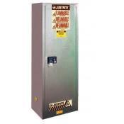 Sure-Grip  EX Slimline Flammable Safety Cabinet, Cap. 22 gallons, 3 shelves, 1 s/c door, Gray.