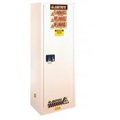 Sure-Grip  EX Slimline Flammable Safety Cabinet, Cap. 22 gallons, 3 shelves, 1 s/c door, White.