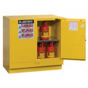 Sure-Grip  EX Undercounter Flammable Safety Cabinet, Cap. 22 gallons, 1  shelf, 2 s/c doors, Yellow.