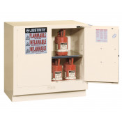Sure-Grip  EX Undercounter Flammable Safety Cabinet, Cap. 22 gallons, 1  shelf, 2 s/c doors, White.