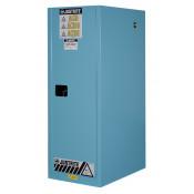 Sure-Grip  EX Deep Slimline Corrosives/Acid Safety Cabinet, Cap. 54 GAL, 3 shelves, 1 m/c door, Blue.