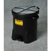6 GAL Polyethylene - Black w/Foot Lever
