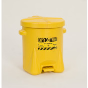 6 Gal Polyethylene - Yellow w/Foot Lever