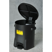 10 Gal Polyethylene - Black w/Foot Lever