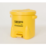 10 Gal Polyethylene - Yellow w/Foot Lever