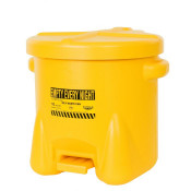10 Gal Polyethylene - Yellow w/Foot Lever