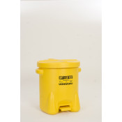 14 Gal Polyethylene - Yellow w/Foot Lever