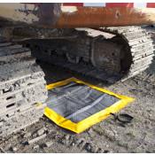 SpillNEST XT Off-Road Drip Pad w/ Grommets - 3x3  - Yellow