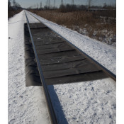 "40 Gal Rail Containment Mats, Interior - 56"" X 35', Exterior - 16"" X 35'-Black"