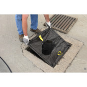 500 gpm Catch Basin Insert - Sediment, Rectangle XL Adjustable 25  - 42  - Black