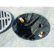 500 gpm Catch Basin Insert - Sediment-Oils, Rectangle Adjustable 16  X 20 , 28  X 36  - Black