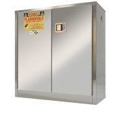 Stainless Steel Safety Cabinet 30 GAL SELF-CLOSE SELF-LATCH SAFE-T-DOOR  45 X 43 X 18