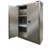 Stainless Steel Safety Cabinet 45 GAL SELF-CLOSE SELF-LATCH SAFE-T-DOOR