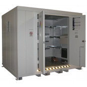 """16 Drum Safety Storage Building FM Approved 2HR Fire Rated 8'4"""" H x 10' W x 8' D; Approx. Ship. Wt. 5,515 Lbs. Approval - OSHA, FM, NFPA"""