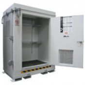 """68.4  cu ft Agri-Chemical Safety Storage Locker FM Approved 2HR Fire Rated 6'11""""H x 5'W x 3'6""""D; Approx. Ship. Wt. 1,431 Lbs."""