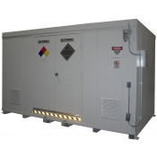 """24 Drum Safety Storage Building FM Approved 2 HR Fire Rated 8'4""""H x 14'W x 8'D; Approx. Ship. Wt. 6,994 Lbs. Approval - OSHA, FM, NFPA"""