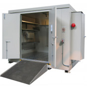 "16 Drum Safety Storage Building FM Approved 4 HR Fire Rated 8'4"" H x 10' W x 8' D; Approx. Ship. Wt. 5,515 Lbs. Approval - OSHA, FM, NFPA"