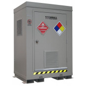 "2 Drum Safety Storage Locker FM Approved 4 HR Fire Rated 6'11""H x 5'W x 3'6""D; Approx. Ship. Wt. 1,781 Lbs."