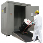 "6 Drum Safety Storage Locker FM Approved 4 HR Fire Rated 6/55 Gal. Drum;  8'4""H x 7'W x 5'D; Approx. Ship. Wt. 2,761 Lbs."