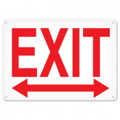 "EXIT Left/Right (10"" x 14"") Self adhesive"