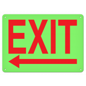 "Exit Left (10"" x 14"") Self adhesive"
