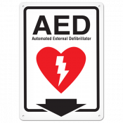 "AED (10"" x 14"") Self Adhesive"