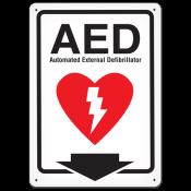 """AED (10"""" x 14"""") Rigid Plastic"""