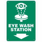 "Eye Wash (10""x14"") Self Adhesive"