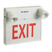 6 Volt Steel LED Emergency Exit Sign Combo