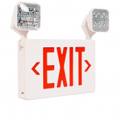 LED Emergency Exit Sign Combo With Adjustable Heads Thermoplastic