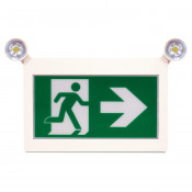 LED RUNNING MAN SIGN WITH WITH ADJUSTABLE TWIN SPOT LED LIGHTS (REMOTE CAPABLE)