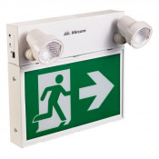 Mircom LED STEEL COMBO RUNNING MAN SIGN WITH ADJUSTABLE TWIN SPOT LED LIGHTS (REMOTE CAPABLE)