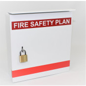 Fire Safety Plax Box - 2 Pad Locks