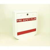 Heavy Duty Fire Safety Plax Box - Keyed for Peel Region