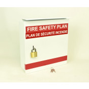 Fire Safety Plax Box - 2 Pad Locks - Bilingual