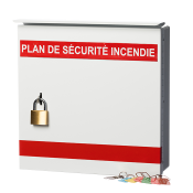 Fire Safety Plax Box - 2 Pad Locks - French