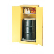 55 Gal Two Door Manual 1-Vertical Drum, 1-shelf
