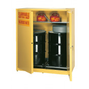 110 Gal Two Door Manual Two Vertical Drums, 1-shelf