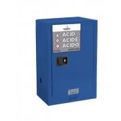 NOSREDNA 12 GALLON MANUAL DOOR ACID CORROSIVE CABINET 35 X 23 X 18 FM APPROVED