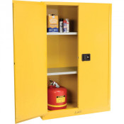 NOSREDNA 45 GALLON SELF-CLOSING DOOR SAFETY CABINET 65 X 43 X 18 FM APPROVED