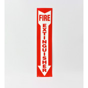 "Fire Extinguisher Arrow Sign -Self Adhesive 4"" x 18"""