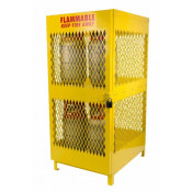 8 Cylinder Steel Vertical Propane Locker 72 X 31 X 42 Yellow