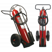 50LB CO2 WHEELED FIRE EXTINGUISHER