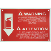 "K-class Fire Extinguisher Sign 8"" x 12"""
