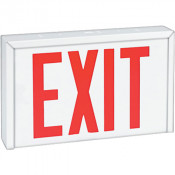 Steel Exit  - Universal Face & Universal Mounting LED 120/347VAC