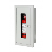 5LB SEMI-RECESSED EXTINGUISHER CABINET- WHITE -FIRE RATED