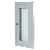 2.5 Gal/ 20lb SEMI-RECESSED EXTINGUISHER CABINET WITH BUBBLE CANOPY-GREY